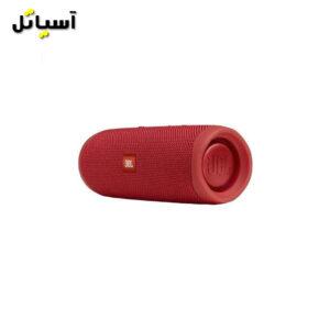 تصویر نمای راست اسپیکر بلوتوث JBL مدل Flip5 قرمز
