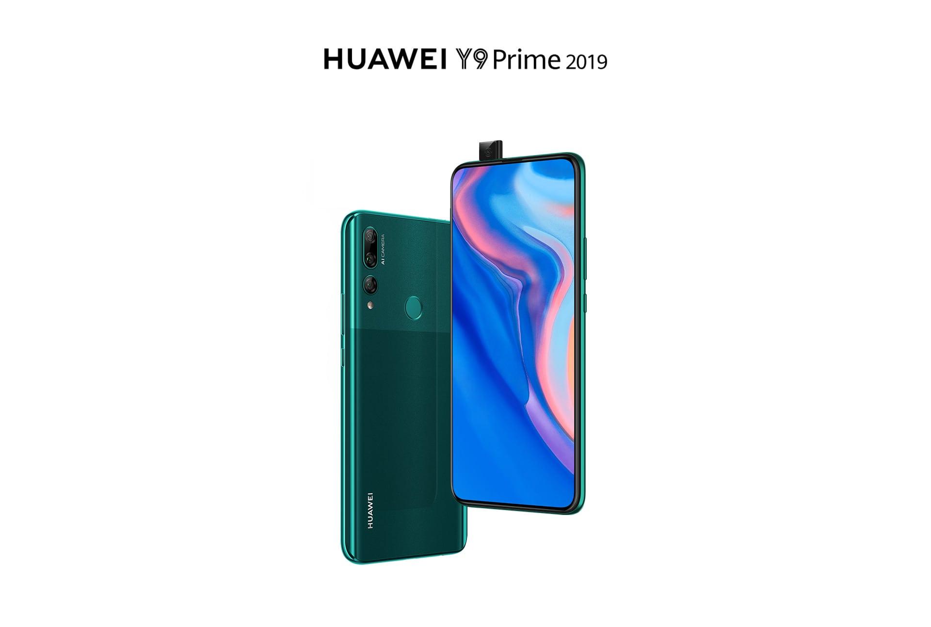 نمای جلو و پشت گوشی هواوی Y9 Prime 2019 سبز