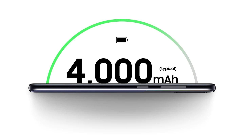 ظرفیت باتری 4000 میلی آمپر ساعتی گوشی گلکسی A30s سامسونگ
